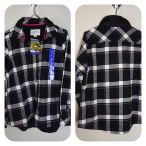 Orvis Fleece & Flannel Buffalo Plaid Shirt Jacket